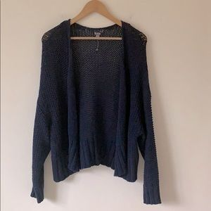 NEW Aerie Chunky Open Front Cotton Cardigan